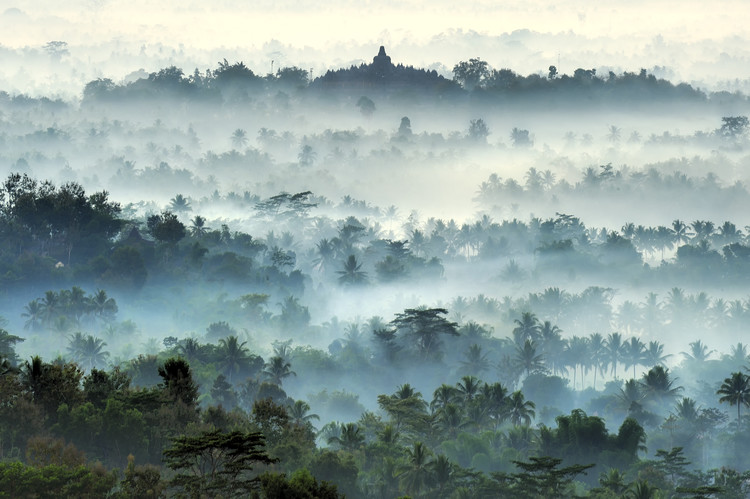 Art Print on Demand Misty Borobudur