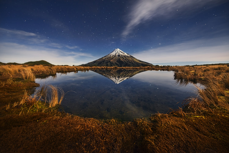 Art Print on Demand Mount Taranaki