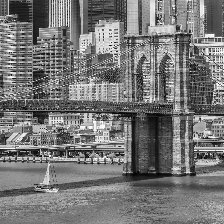 Art Print on Demand NEW YORK CITY Brooklyn Bridge And East River