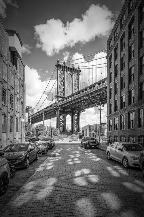 Art Print on Demand NEW YORK CITY Manhattan Bridge