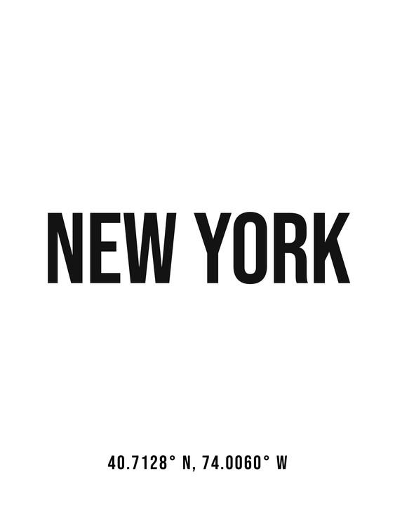 Art Print on Demand New York simple coordinates