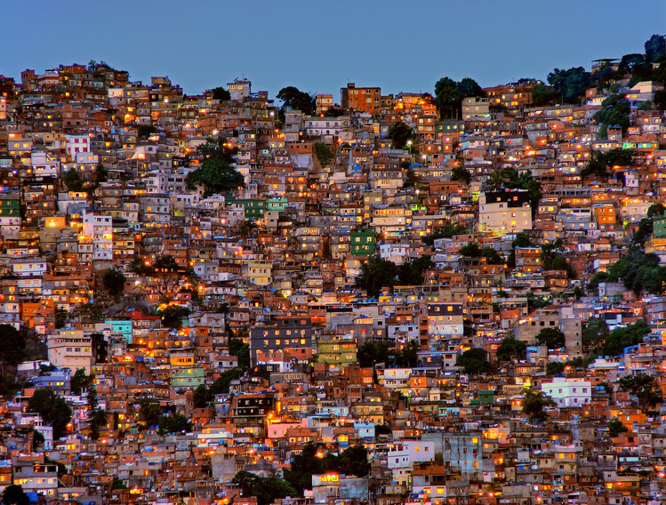 Art Print on Demand Nightfall in the Favela da Rocinha