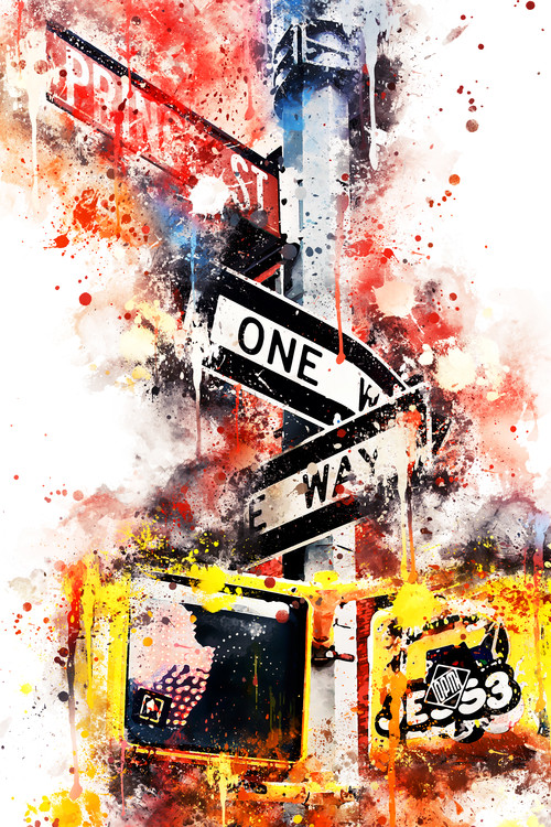 Art Print on Demand NYC Watercolor 037