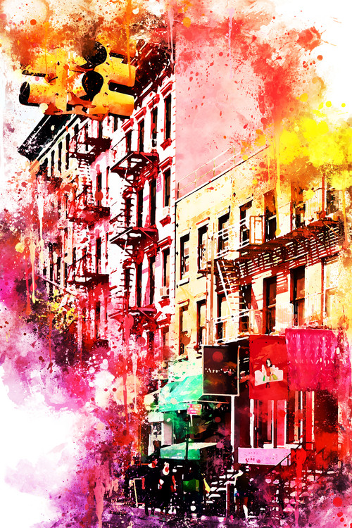 Art Print on Demand NYC Watercolor 050