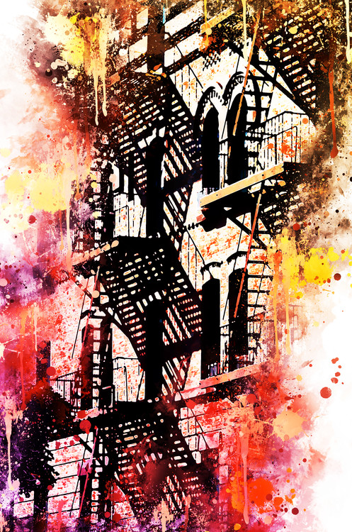 Art Print on Demand NYC Watercolor 053
