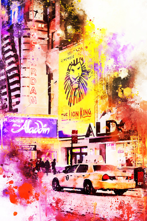 Art Print on Demand NYC Watercolor 103