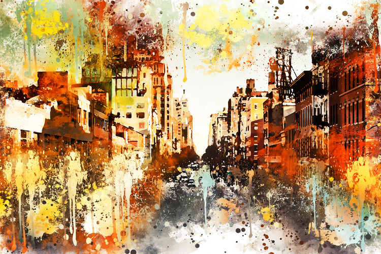 Art Print on Demand NYC Watercolor 114