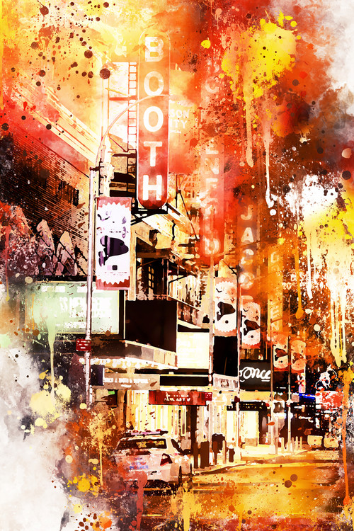 Art Print on Demand NYC Watercolor 146
