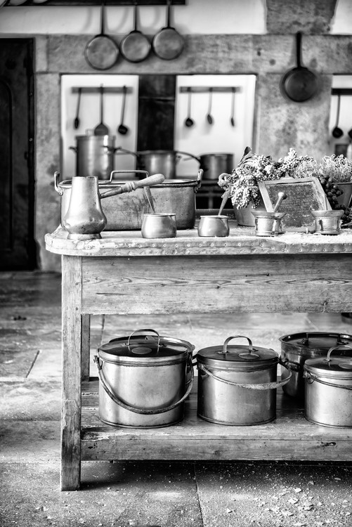Art Print on Demand Old Portuguese Kitchen