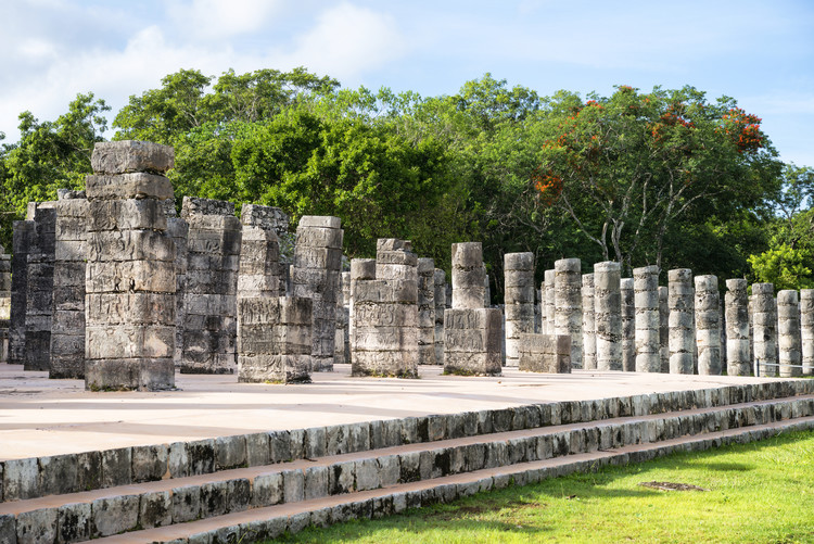 Art Print on Demand One Thousand Mayan Columns