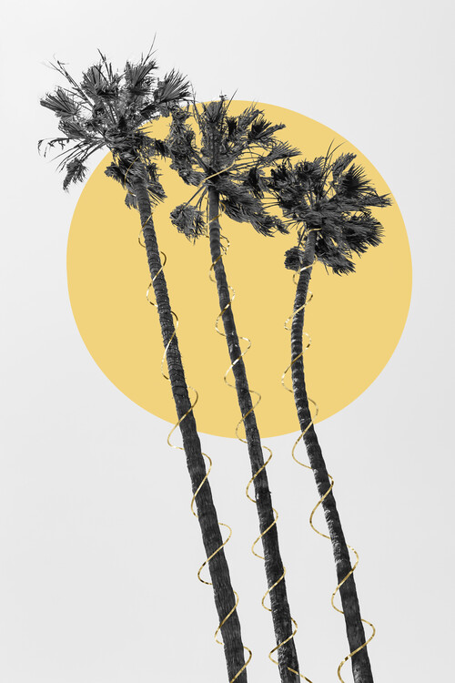 Art Print on Demand Palm Trees In The Sun