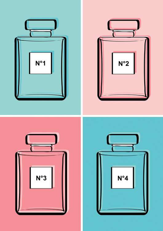 Art Print on Demand Pastel perfumes
