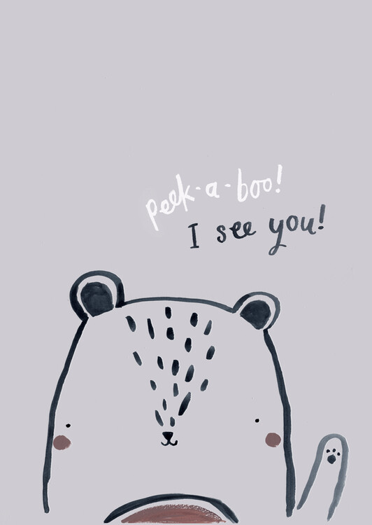 Art Print on Demand Peek a boo bear