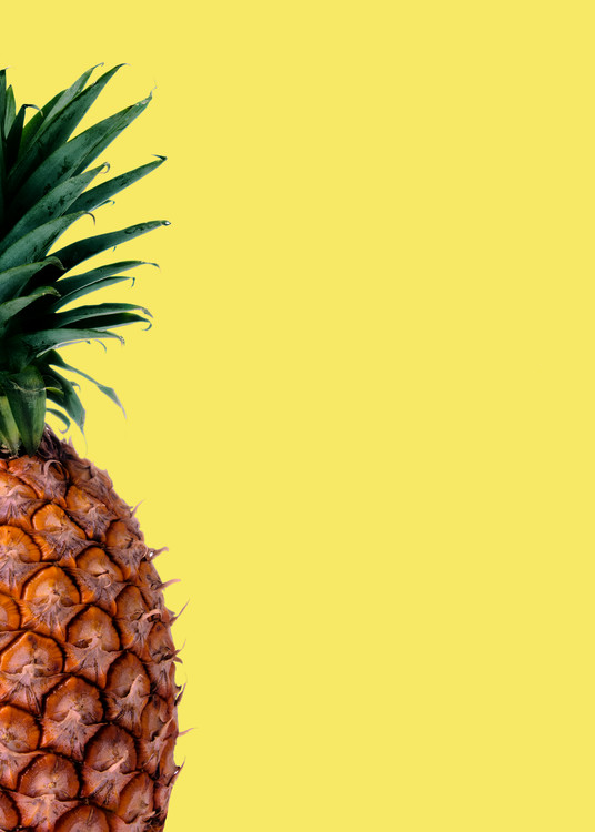 Pinapple yellow Wallpaper Mural