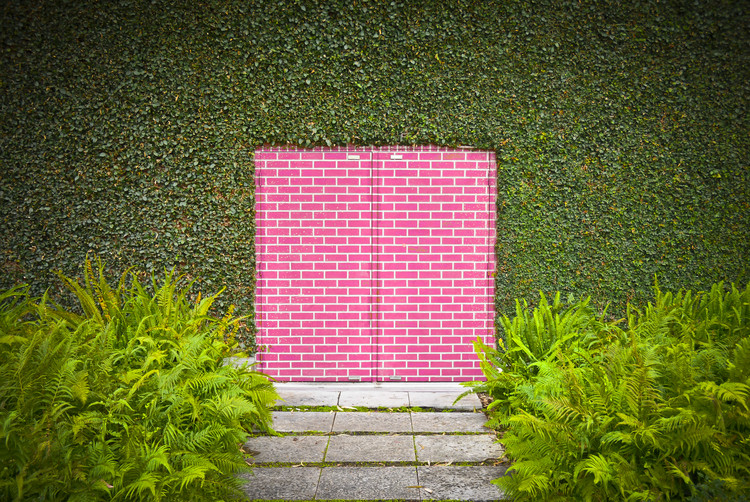 Art Print on Demand Pink Brick Door