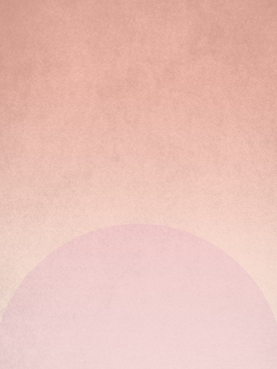 Art Print on Demand planet pink sunrise