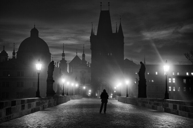 Art Print on Demand Prague in Black & White