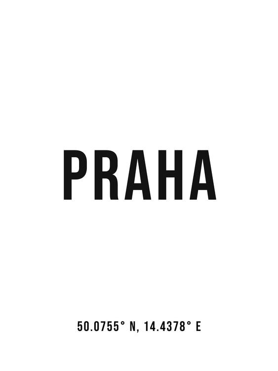 Art Print on Demand Praha simple coordinates