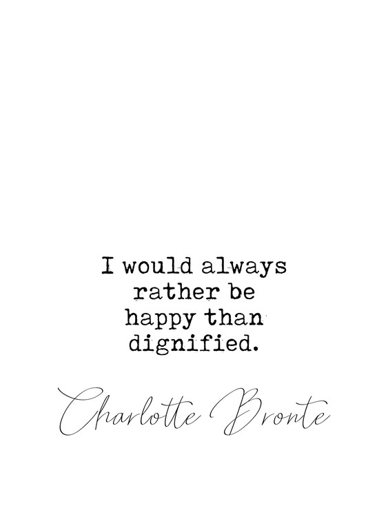 Art Print on Demand Quote Bronte
