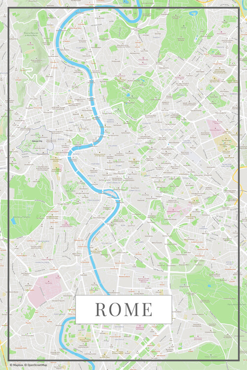 Map of Rome color