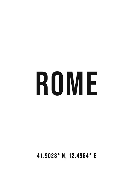 Art Print on Demand Rome simple coordinates