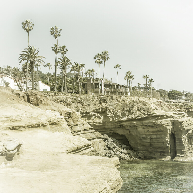 Art Print on Demand SAN DIEGO Sunset Cliffs | Vintage