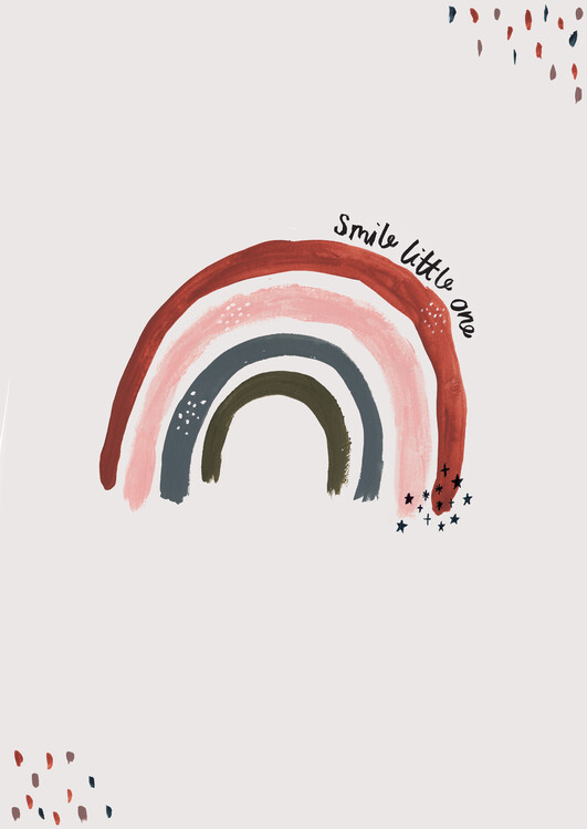 Art Print on Demand Smile little one rainbow portrait