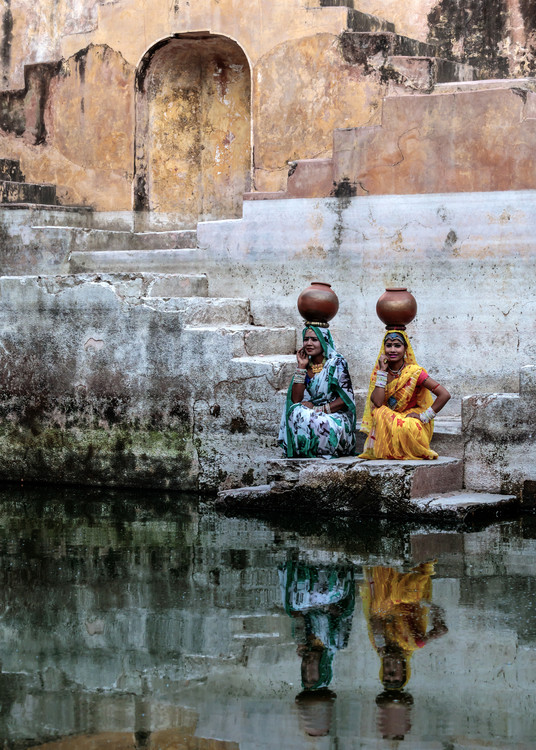Art Print on Demand Stepwell Reflections