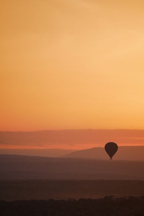 Art Print on Demand Sunset balloon ride