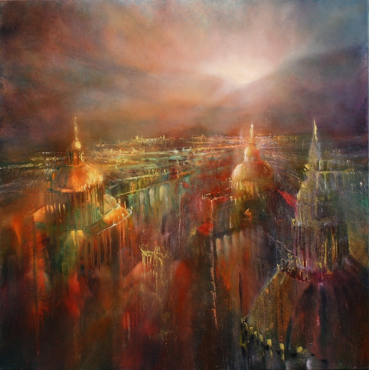 Art Print on Demand The city awekening