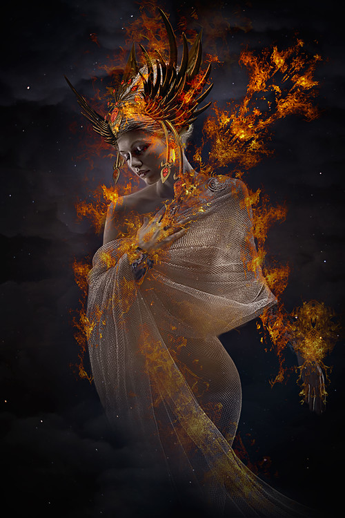 Art Print on Demand The Fire Princess