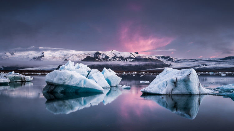 Art Print on Demand The Glacier Lagoon