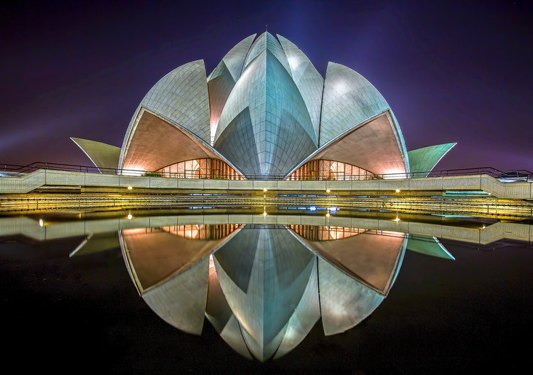 Art Print on Demand The Lotus Temple