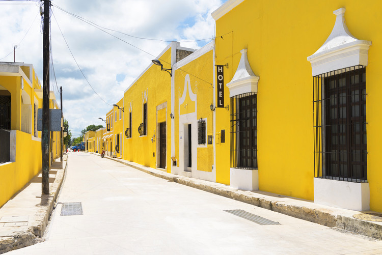 Art Print on Demand The Yellow City - Izamal