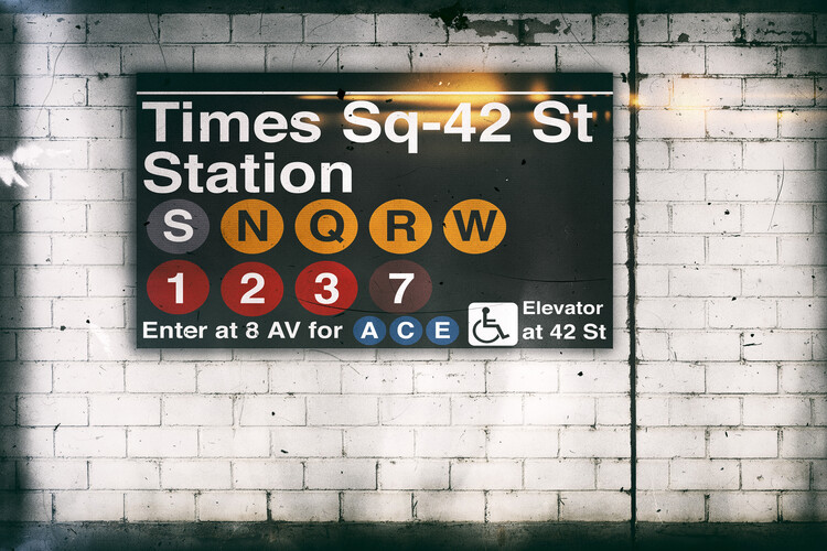 Art Print on Demand Times Square Station