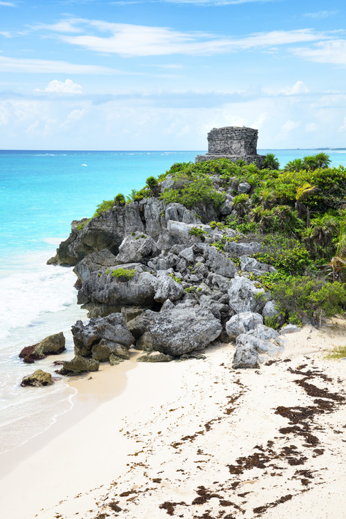 Art Print on Demand Tulum Ruins along Caribbean Coastline