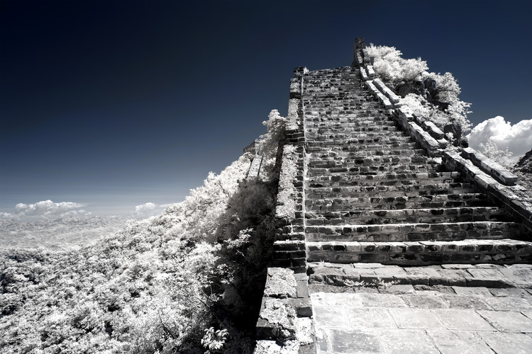 Art Print on Demand White Great Wall of China