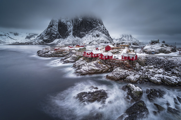 Art Print on Demand winter Lofoten islands