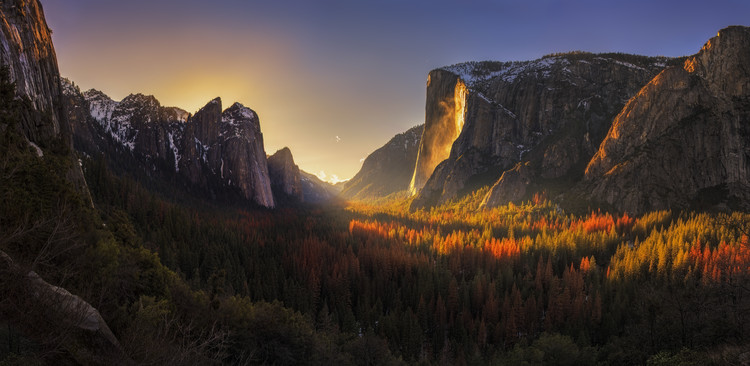 Art Print on Demand Yosemite Firefall