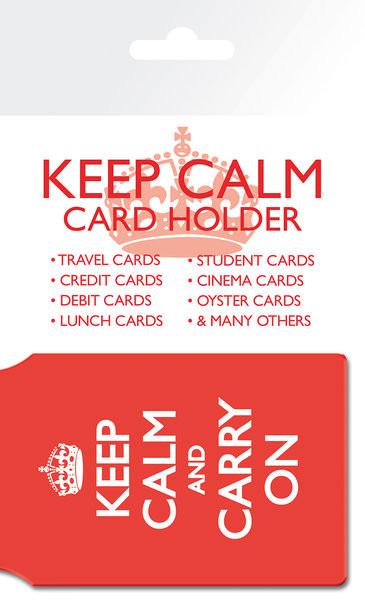 Keep Calm And Carry On Porte-Cartes
