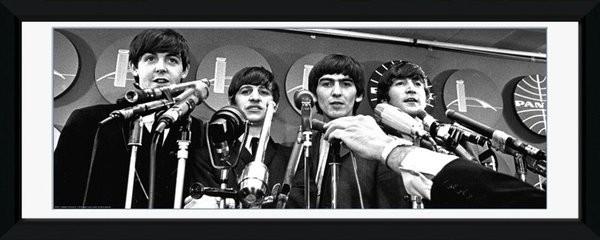 Beatles - interwiew Poster encadré en verre