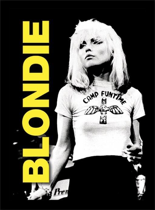 Blondie - live Poster encadré en verre
