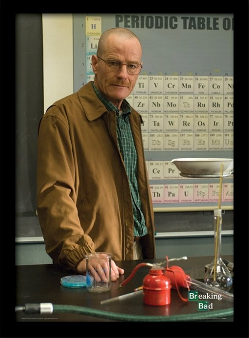 BREAKING BAD - teacher Poster encadré en verre