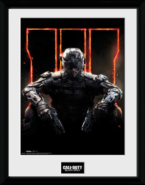 Call of Duty: Black Ops 3 - Cover Poster encadré en verre
