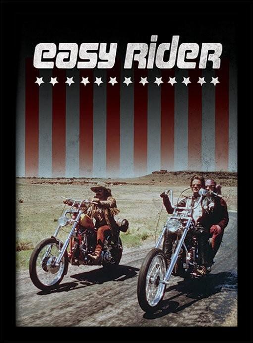 EASY RIDER - riders Poster encadré en verre