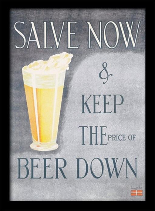 IWM - Salve Now Poster encadré en verre