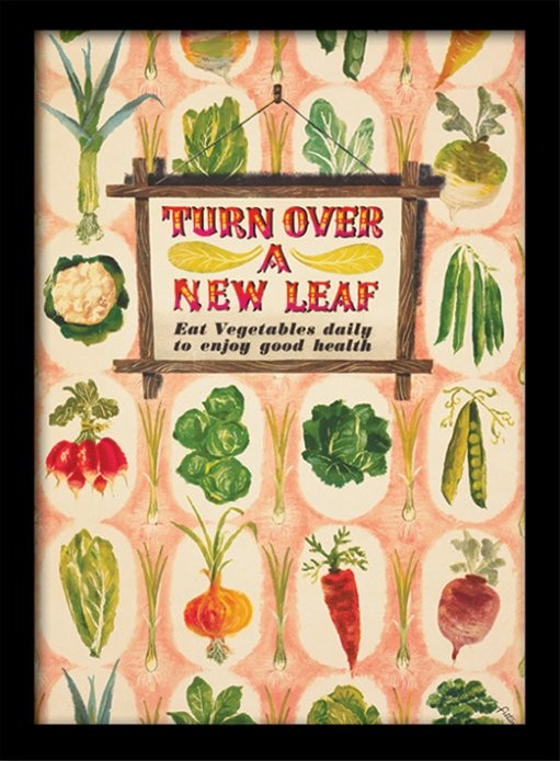IWM - Turn Over A New Leaf Poster encadré en verre