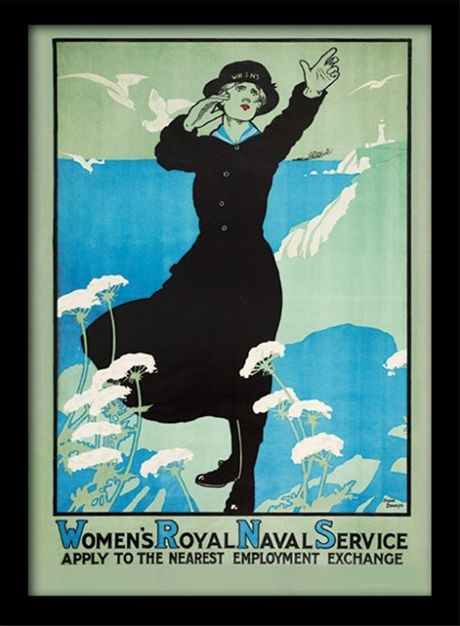 IWM - Womens Royal Navy Poster encadré en verre
