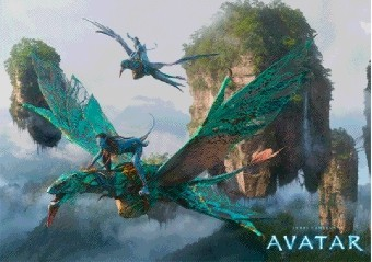 3D Poster  AVATAR - flying