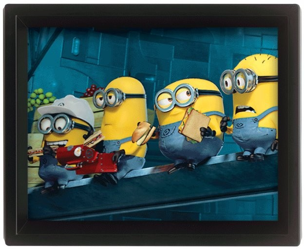Framed 3Dposter  Despicable Me - Minions On A Skyscraper